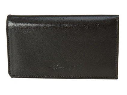 Velká dámská kožená peněženka DRAGON Dellia - černá