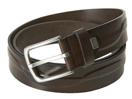 pánský hnědý kožený pásek 3279, LINDENMANN