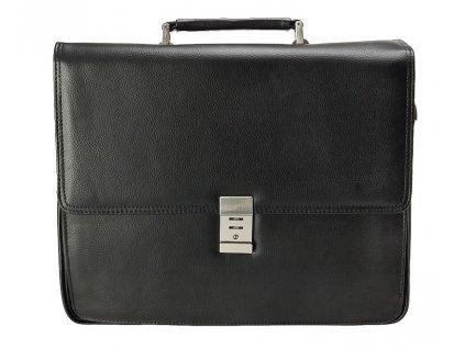 "d & n lederwaren černá aktovka na notebook 14"" z umělé kůže 537501, d&n lederwaren"