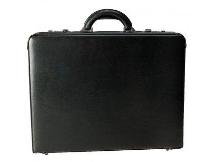 Černý kožený ataše kufřík 2632 01, d&n lederwaren