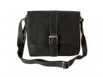 černá kožená taška FRESH WAVE 21, Daag
