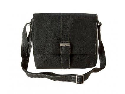 černá kožená taška FreshWave21, Daag