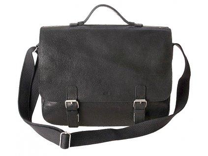 """černá kožená taška JAZZY Wanted 24 s vložkou na15"""" notebook, DAAG"""