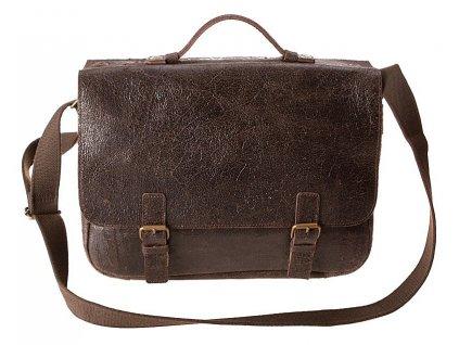 "daag tmavě hnědá kožená taška JAZZY Wanted 24 s vložkou na 15"" notebook , DAAG"