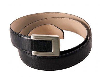 pánský černý kožený pásek 55-0350-1302, GALKO