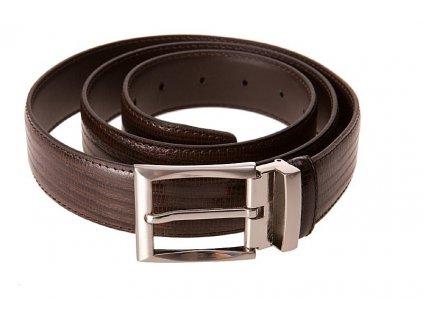pánský hnědý kožený pásek 55-0371-1343, GALKO