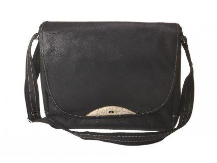 černá kožená taška JAZZY 85, DAAG