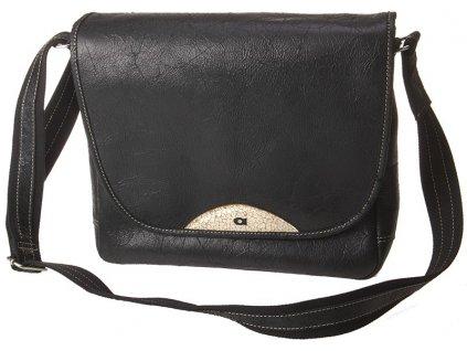 daag černá kožená taška JAZZY 84, DAAG