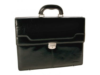 černá kožená aktovka ORTEGA, DAAG