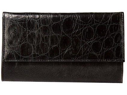 velká dámská černá kožená peněženka 20-0291-3604, Galko