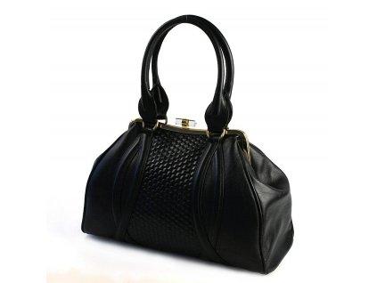 černá kabelka v kombinaci s tlačenou kůží 10-1241-3601, Galko