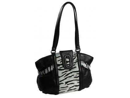 GALKO černá kabelka s kožešinou 10-1240-2605, Galko