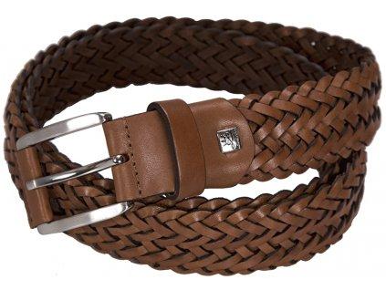 pánský hnědý - koňak kožený pásek 5046 , LINDENMANN