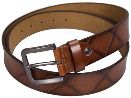 pánský hnědý - koňak kožený pásek 338 , LINDENMANN