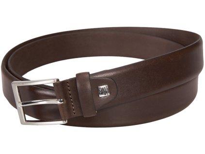 pánský hnědý kožený pásek 301, XXL, LINDENMANN