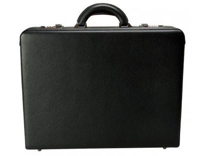 Černý kožený ataše kufřík 2665-01, d&n lederwaren