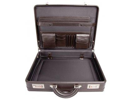 hnědý ataše kufřík 262903, d&n lederwaren