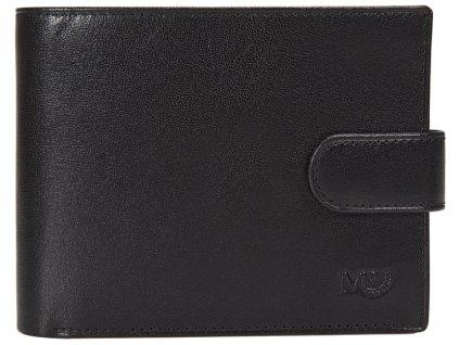 pánská černá kožená peněženka B120218, MARTA PONTI