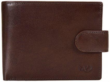 Luxusní pánská kožená peněženka MARTA PONTI Johan - tmavě hnědá