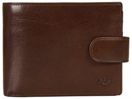 pánská hnědá - koňak kožená peněženka B120219, MARTA PONTI