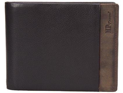 Luxusní pánská kožená peněženka MARTA PONTI Idaho - černá/hnědá