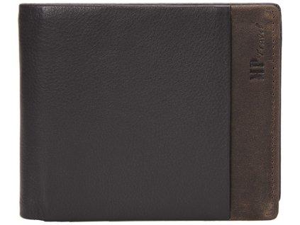 pánská černohnědá kožená peněženka B123160, MARTA PONTI