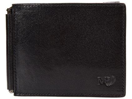 Luxusní pánská kožená peněženka - dolarka MARTA PONTI Marten - černá