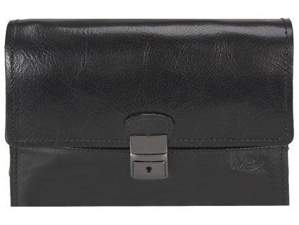 Luxusní pánská kožená etue MARTA PONTI Lincoln - černá