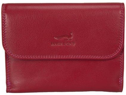 dámská červená kožená peněženka B270032, MARTA PONTI