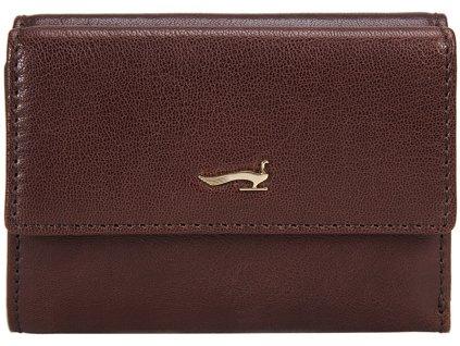 hnědá kožená peněženka B33PO24, MARTA PONTI