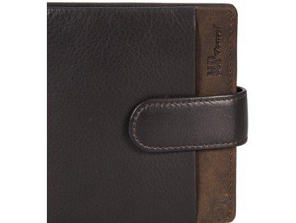 pánská černohnědá kožená peněženka B123168, MARTA PONTI