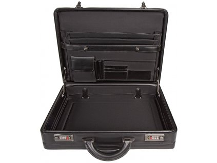 černý ataše kufřík 263401, d&n lederwaren