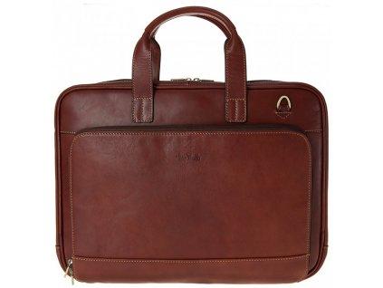 "hnědá kožená taška na 13"" notebook 9152, Tony Perotti"
