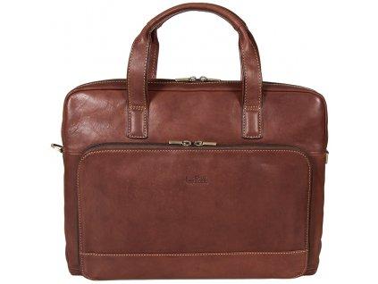 hnědá kožená taška 6159, Tony Perotti