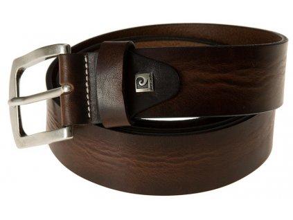 Pánský luxusní kožený pásek PIERRE CARDIN vhodný do jeansů