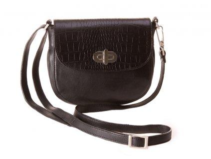 černá kožená kabelka 43S5/77 crossbody, Boca