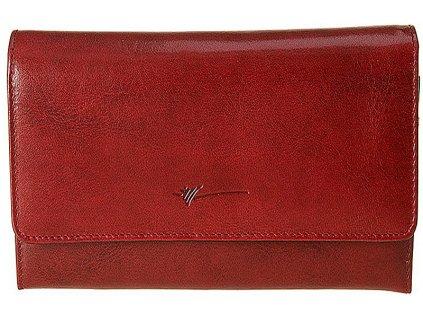 velká dámská tmavě červená kožená peněženka D-496, Dragon