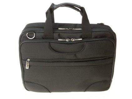 """černá taška na 17"""" notebook 310801, d&n lederwaren"""
