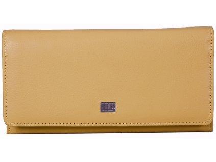 Dámská žlutá kožená peněženka MANO 20154