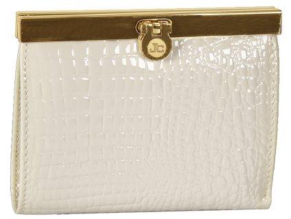 dámská smetanově bílá kožená peněženka J-11-001-002, Jacky&Celine