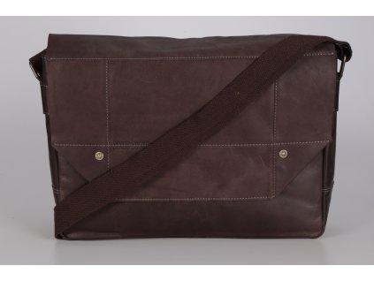 hnědá kožená taška 320/2034, BRUNO BANANI