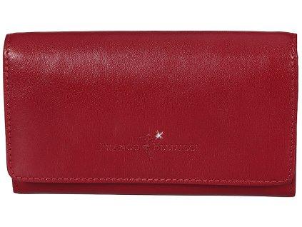 Dámská červená kožená peněženka D-11, Franco Bellucci,