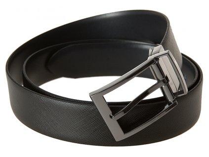 Pánský černý oboustranný kožený pásek 813, LLOYD