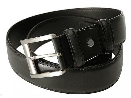 BREMI elegantní pánský černý kožený pásek PL 106