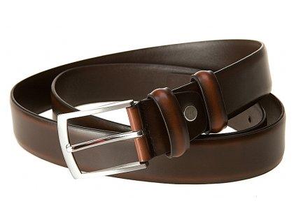 BREMI pánský hnědý kožený pásek PL 105, BREMI
