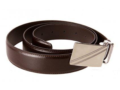 pánský hnědý kožený pásek 55-0375-1542, GALKO