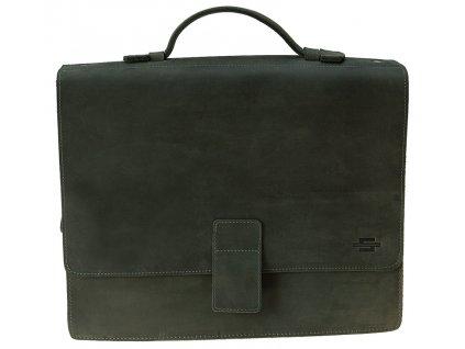 Grafitově šedá kožená taška JAZZYSport9, DAAG