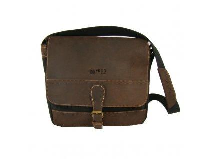 černá taška z canvasu a pravé kůže SD 9006, FROG