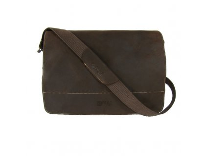 Černá taška z canvasu a pravé kůže SD 9004, FROG