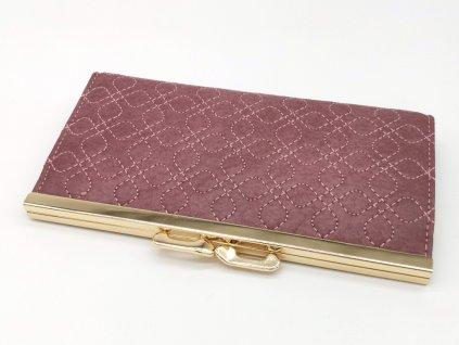 Dámská růžová peněženka GINA, S.FIORENTINO